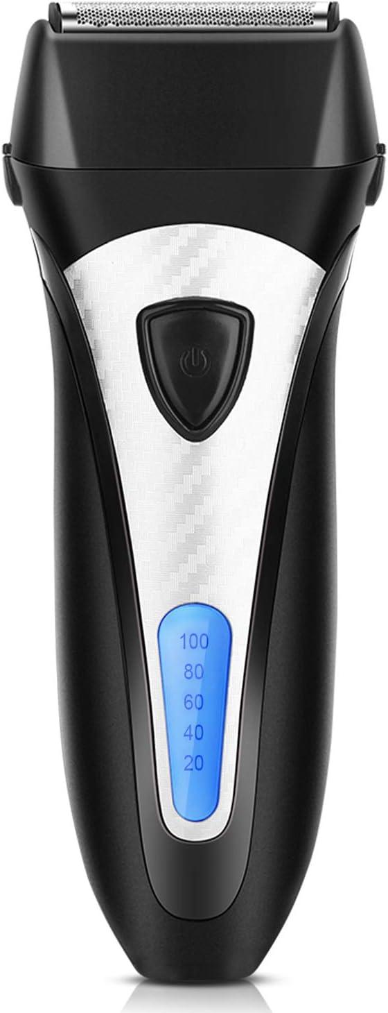Afeitadora Eléctrica Flotante Máquina de Afeitar de Lámina Afeitadora para Patilla para Hombre Inalámbrica con Pantalla LCD PS-7607 ELEHOT (plateado)