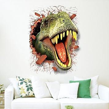 wandaufkleber wandtattoos Ronamick 3D Cool Dinosaurier Vinyl ...