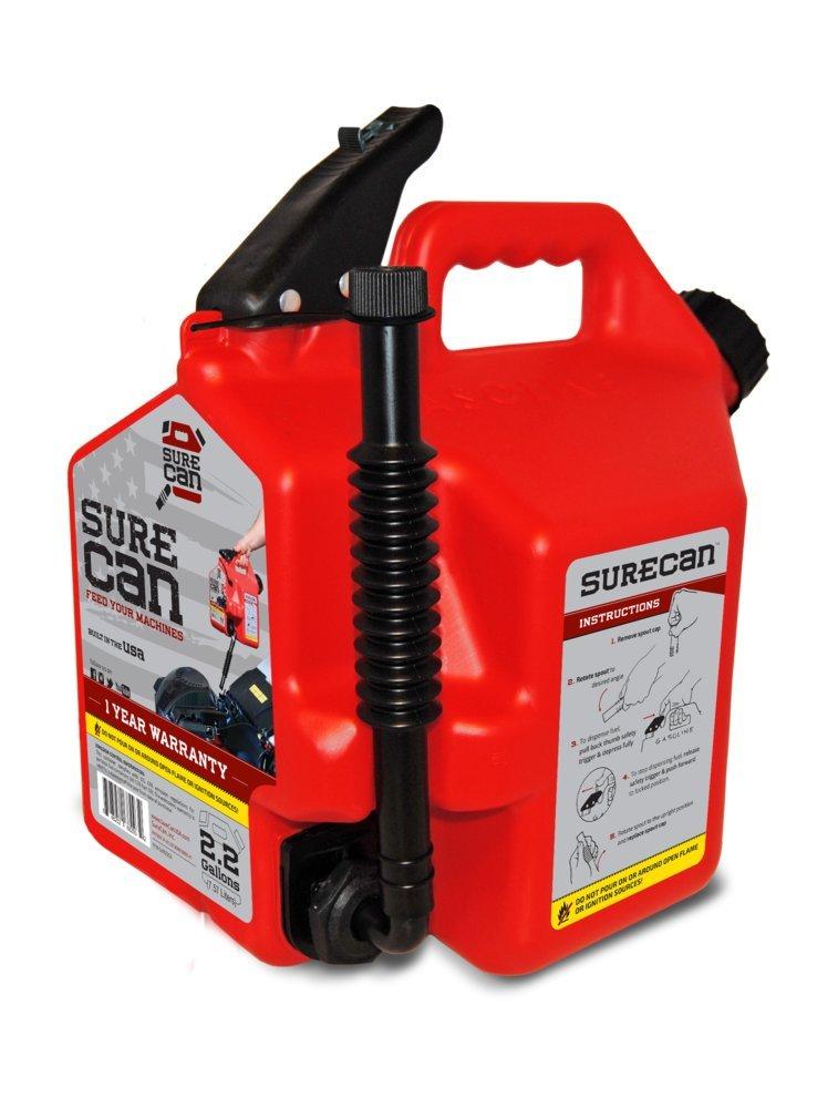 SureCan Fuel Gas Can, 2.2 Gallons