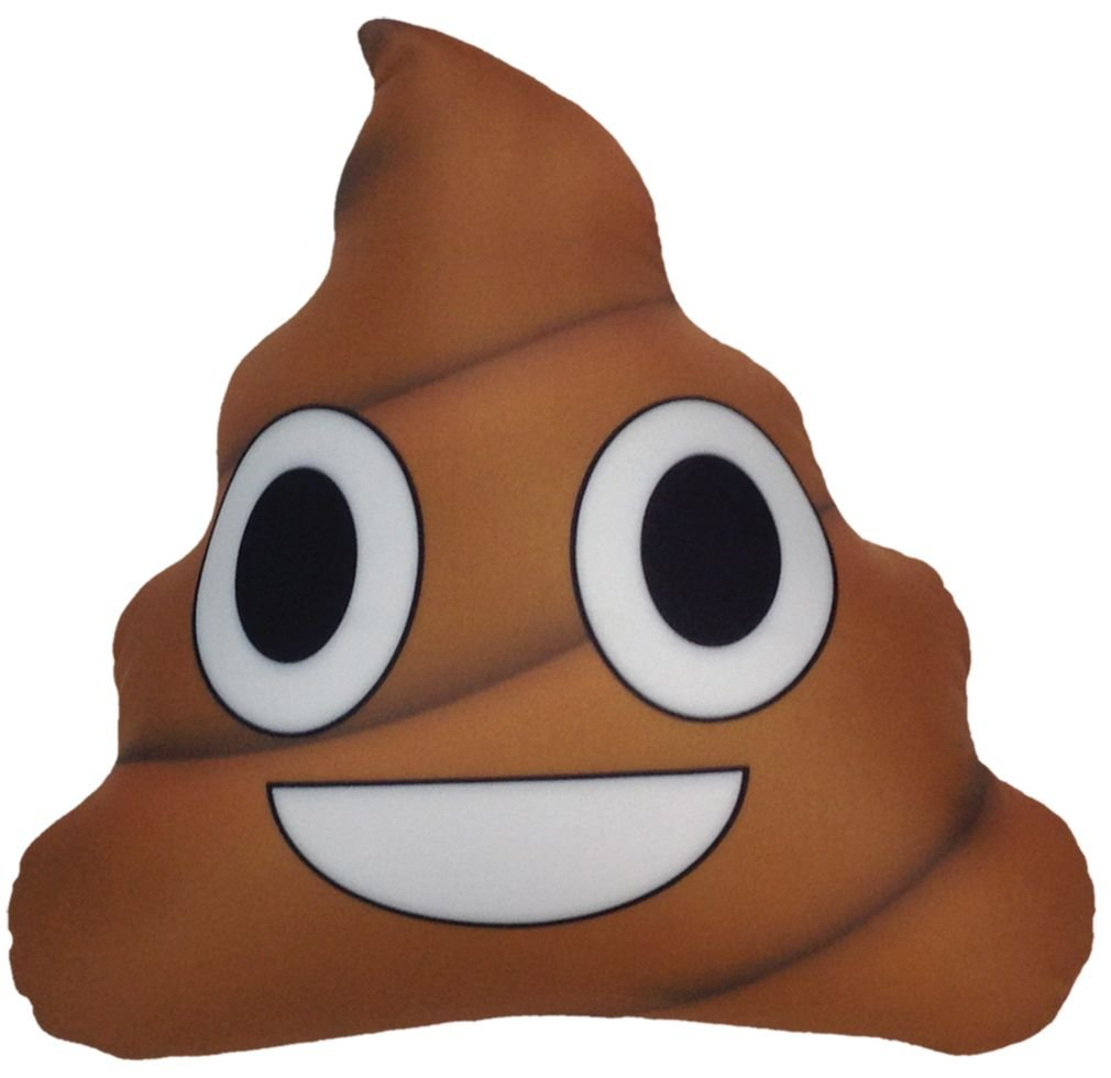 iscream 780-522 Smiling Poop Emoji Microbead Pillow