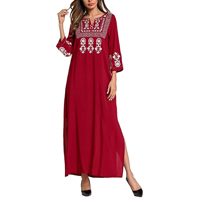 8076878f8618 Zhhlinyuan Señoras Modernas Kaftans Ropa de Dormir de Algodón de ...