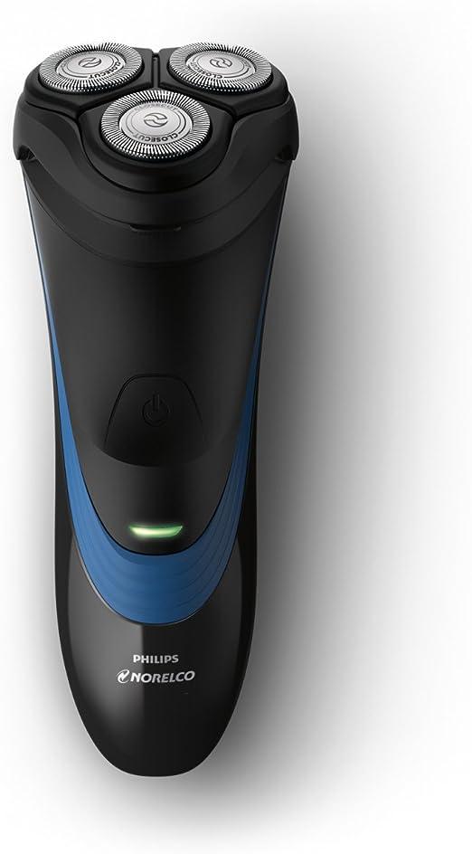Philips Norelco Shaver 2100 S1560/81 - Afeitadora (Máquina de afeitar de rotación, SH30, Negro, Azul, Batería, Ión de litio, 35 h): Amazon.es: Hogar