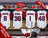 Los Angeles Angels Team Locker Room Clubhouse Personlized Officially Licensed MLB Photo Print