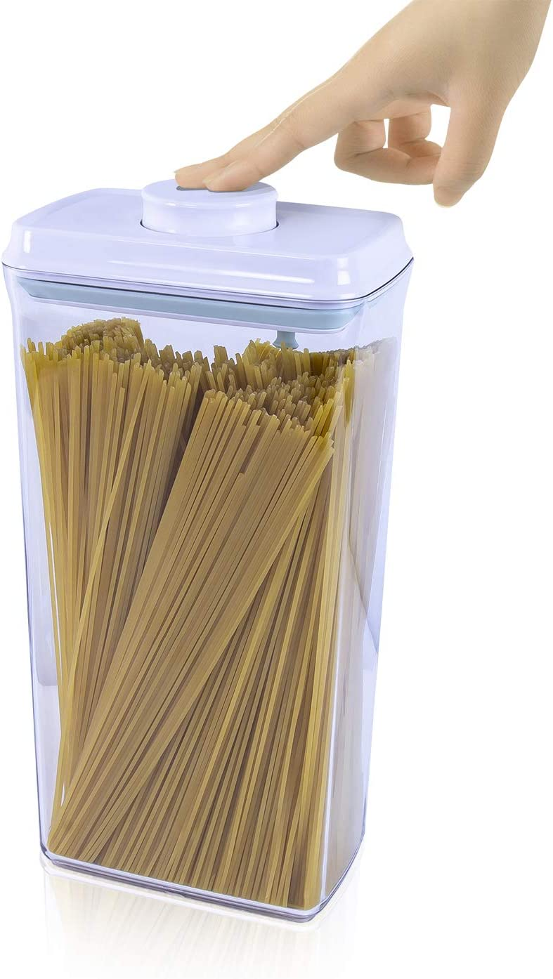 iChewie - BopTop (1pc - Spaghetti/Cereal) Airtight Food Storage Container – Mechanical Silicone Seal Canister - BPA-Free - 3.3Qt