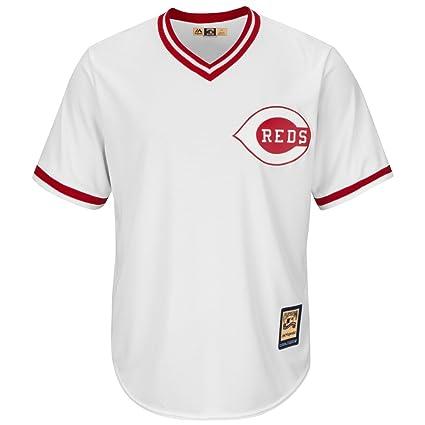 877c54a05 Barry Larkin Cincinnati Reds Majestic MLB Cooperstown Cool Base White Jersey