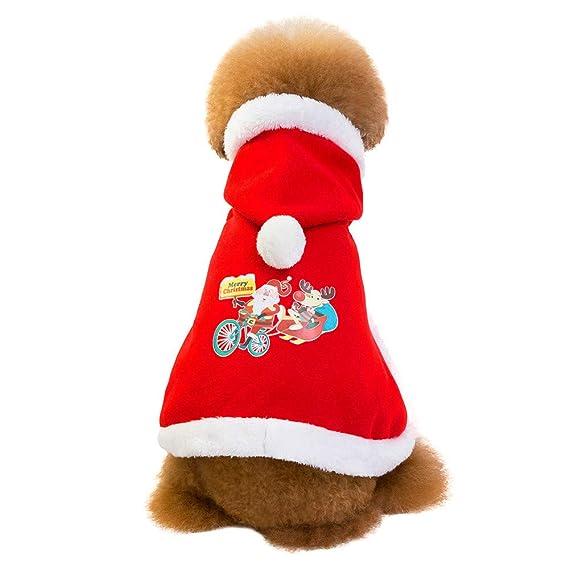 Ropa para Mascotas,Dragon868 Moda Navidad Perros Mascota Capa Abrigos Trajes Perros pequeños: Amazon.es: Ropa y accesorios