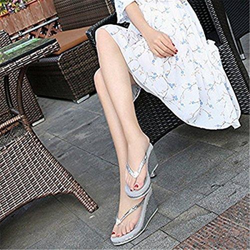 Silver pour Chaussons FAIRYRAIN 1 Femme BHUITRFETk 77 grey qwtXv
