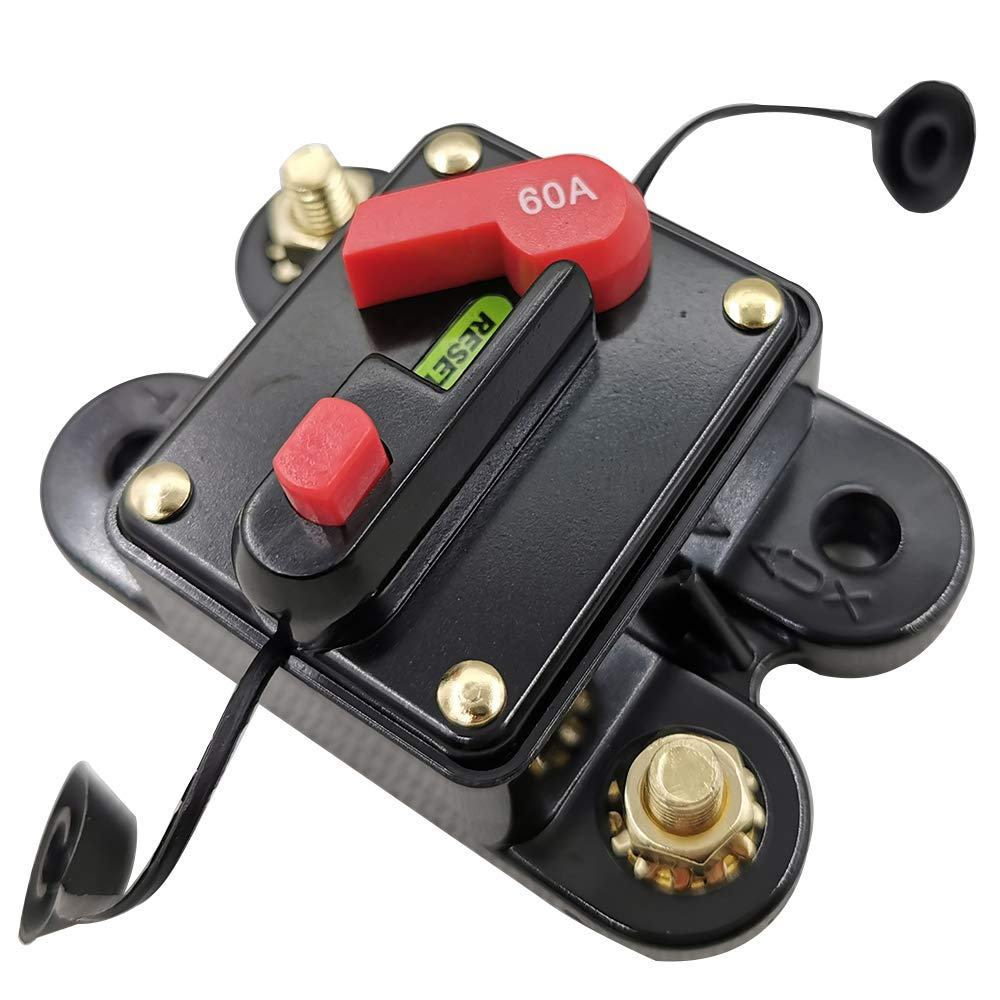 Festnight Mini Size Lightweight Portable Automatic Car Circuit Breaker 12V-24V DC Thermal Circuit Breakers Easy Installation Device