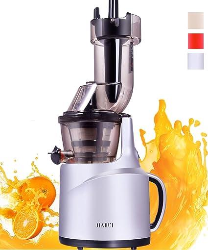JIARUI Slow Juicer - Exprimidor Eléctrico - Exprimidor para Prensa en Frío Plata (150W,