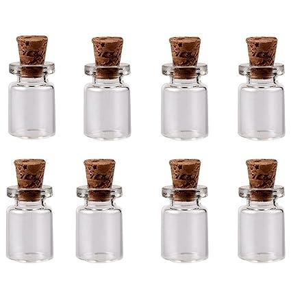 Mini vacío botellas que deseen botellas de cristal decorativas botellas mensaje boda favorece 25 pcs,