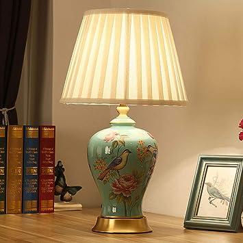 Amazon.com: WCJ - Lámpara de mesa americana para dormitorio ...
