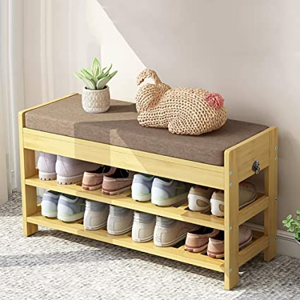 Brilliant Zlmi Hallway Furniture Shoe Racks 2 Tiers Bamboo Shoe Bench Ncnpc Chair Design For Home Ncnpcorg
