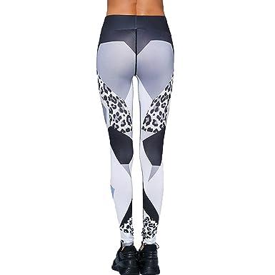 682914e1e8fe2 Color Mood Digital Leopard Print Leggings Hips Stretch Yoga Pants at Amazon  Women's Clothing store: