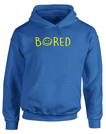 456abcb36712 Print Wear Clothing Bored, Gedruckt Kinder Kapuzenpullover -  Königsblau Gelb 12-13 Jahre