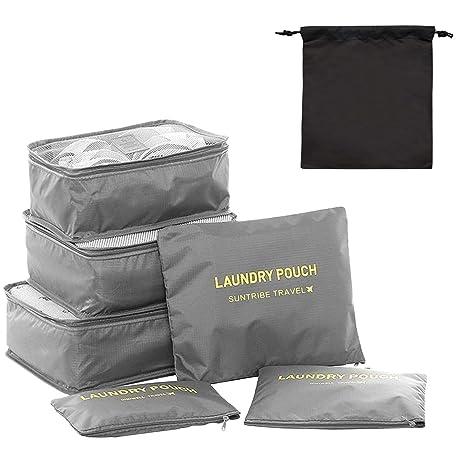 Amazon.com: Cubos de embalaje, 7 conjuntos de maleta ...