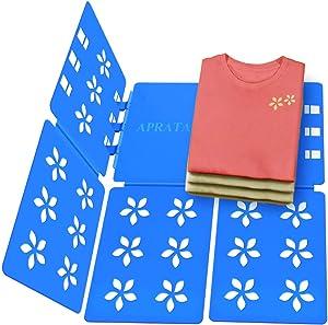 APRATA Shirt Folding Board Adult Size Adjustable Clothes Easy Laundry Folder Organize Board Flipfold Folding Boards Blue