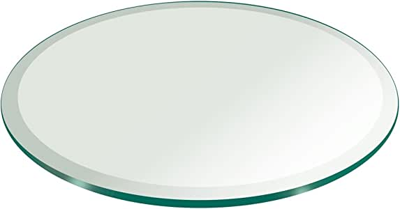 """54"""" Inch Round Glass Table Top 3/4"""" Thick Tempered Beveled Edge by Fab Glass and Mirror"""