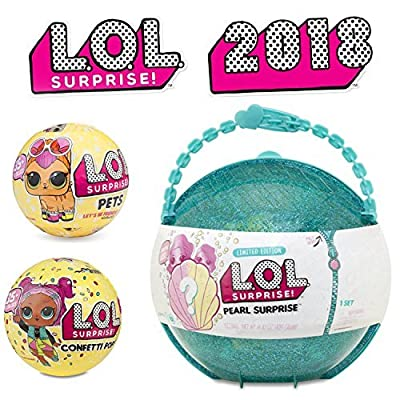 LOL Pearls - Pets - Confetti - 2018 Complete Series - Pack of 3