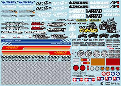 Tamiya 54630 RC Sponser Sticker Set Off Road Car