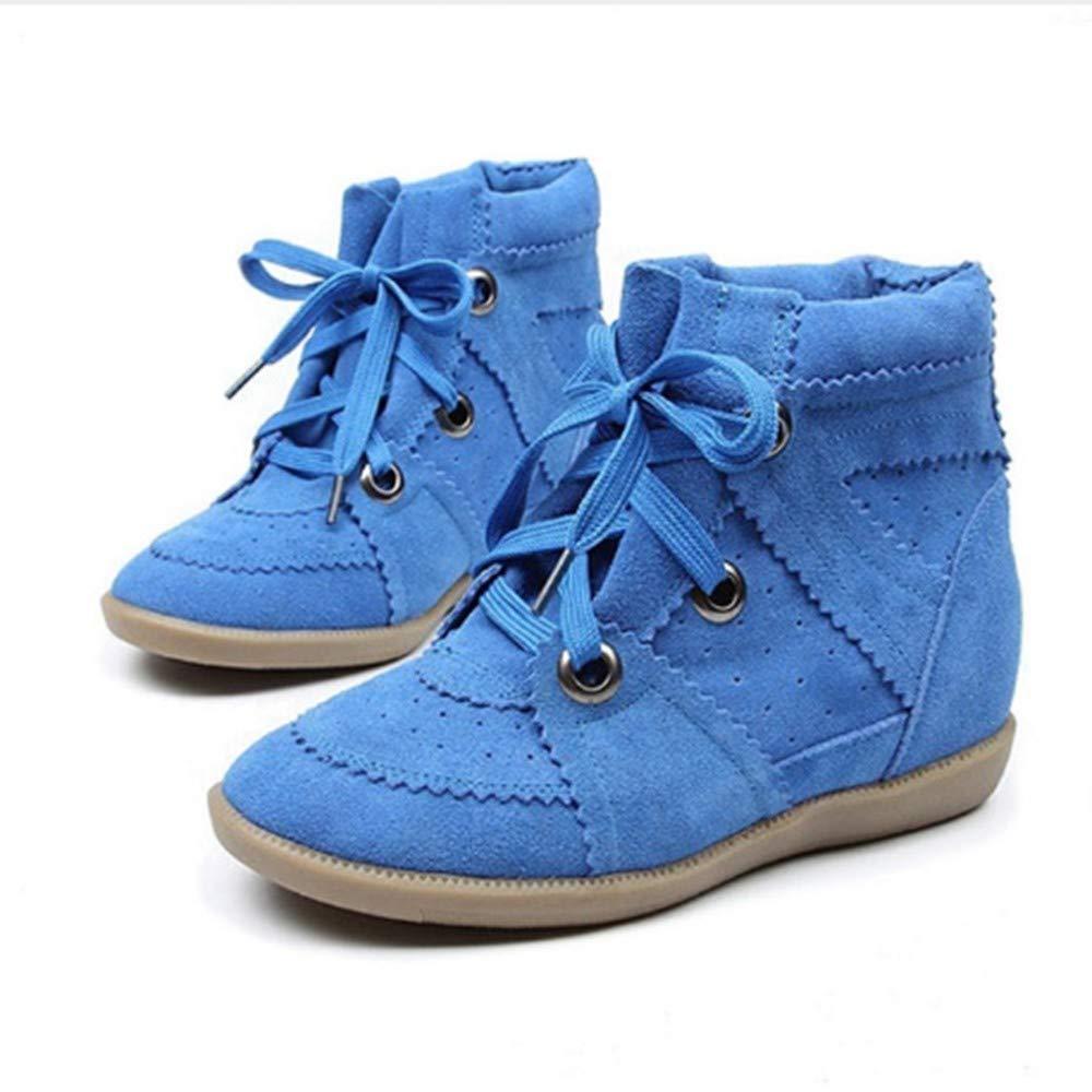 FMWLST Bottes Sneakers pour Femmes Augmentée Bottes Compensées, Hauteur Augmentée Femmes De 7 Cm, Chaussures De Sport pour Dames 40 55034d