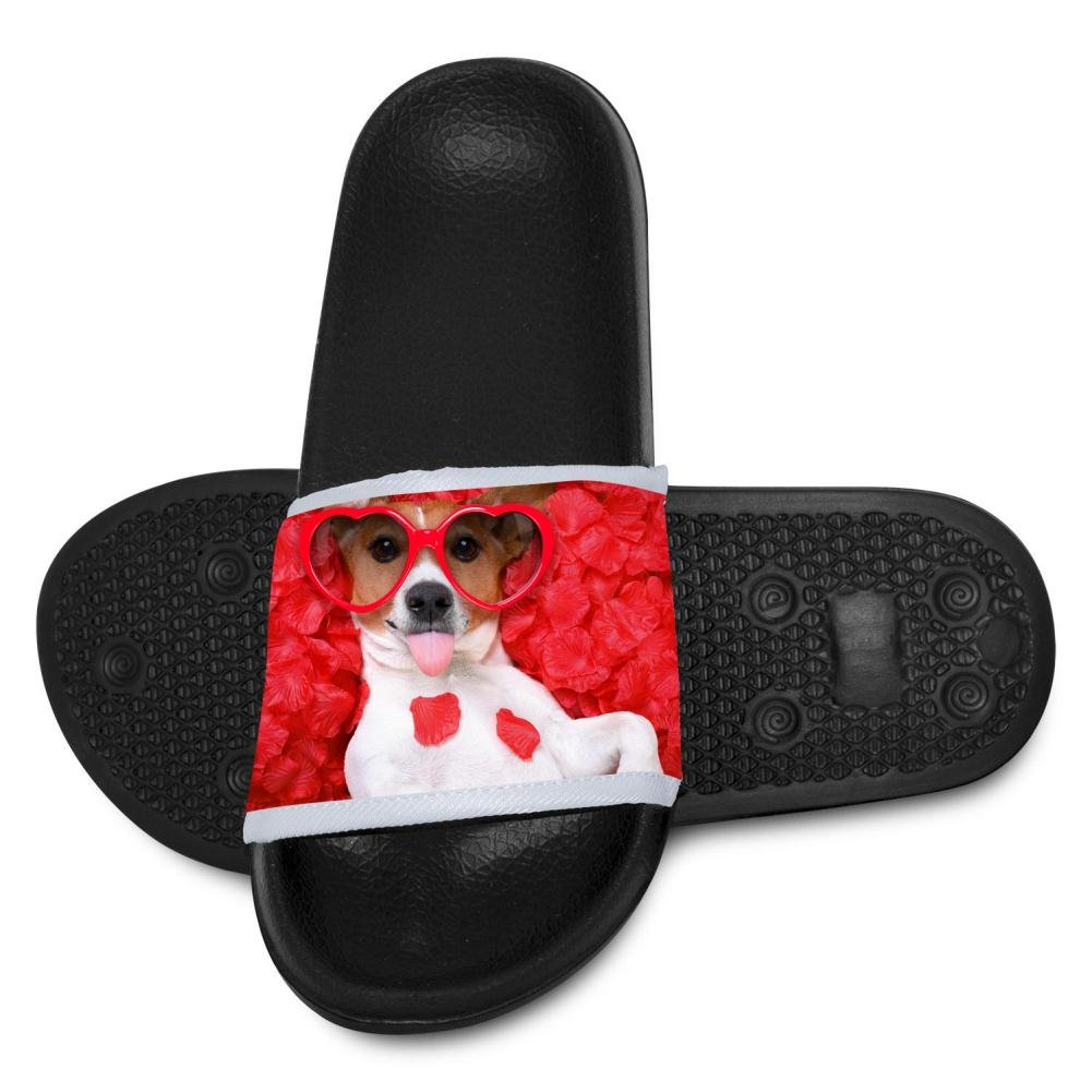 Heart-shaped Glasses Dog Slippers for Boy Girl Indoor Outdoor Casual Sandals Shoes