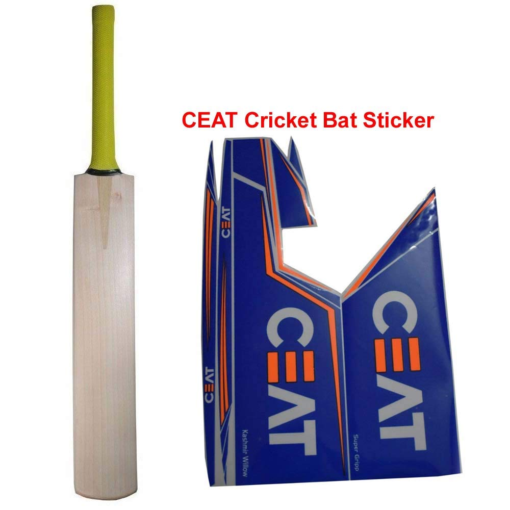 Amazon com c2c best sports plain kashmir willow cricket bat short handle with free ceat cricket bat sticker free sports outdoors