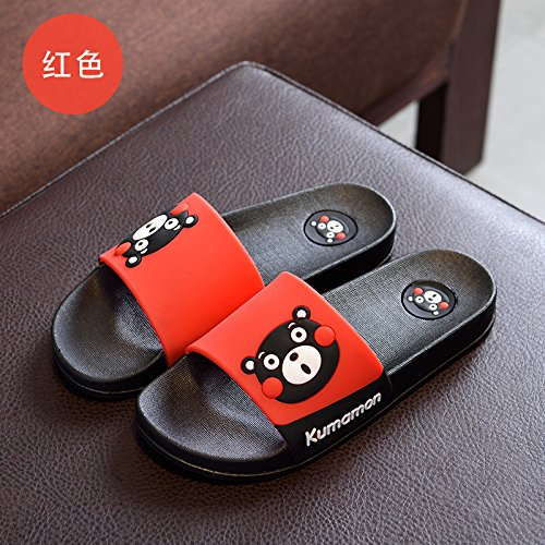 Estate Pantofole Fondo Cartoon 27 Coppia black Casa Jia Doccia New Donna Morbido 28 Interna Spesso Hong Red Cute Antiscivolo Cq5wt7f