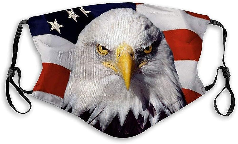 Mascarilla facial para hombres y mujeres, niños y niñas American Eagle Bird talla única