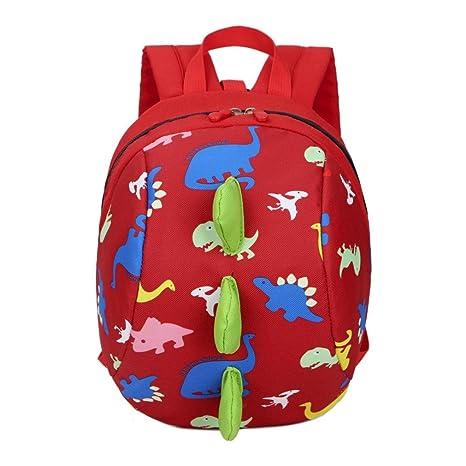 Bolso, Manadlian Niños niñas Mochila de animales Patrón de dinosaurio Bolsa para la escuela (