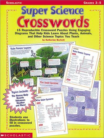 Amazoncom Super Science Crosswords Grades - Us map crosswords scholastic professional books answers