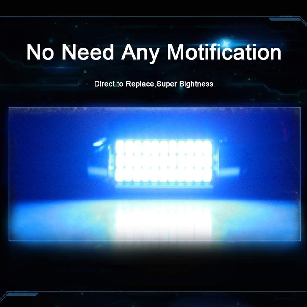 BriRay 41mm Festoon LED Bulbs CANBUS 211-2 212-2 LED Bulbs 578 LED Bulbs 33-3014-SMD Blue 1.61inch LED Bulbs for Dome Map Lights Trunk Lights License Plate Lights,2Pack