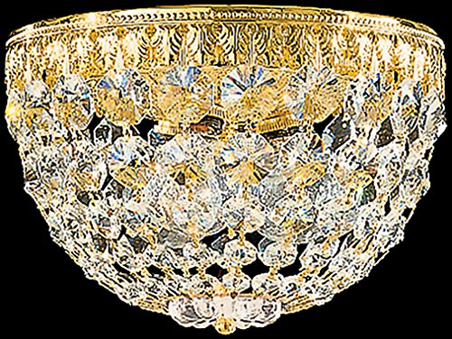 (Schonbek 1558-76A Swarovski Lighting Petit Crystal Flush Mount Lighting Fixture, Heirloom Bronze)