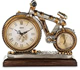 Bicycle Shape Decorative Clock, Vintage Style Antiqued Finished