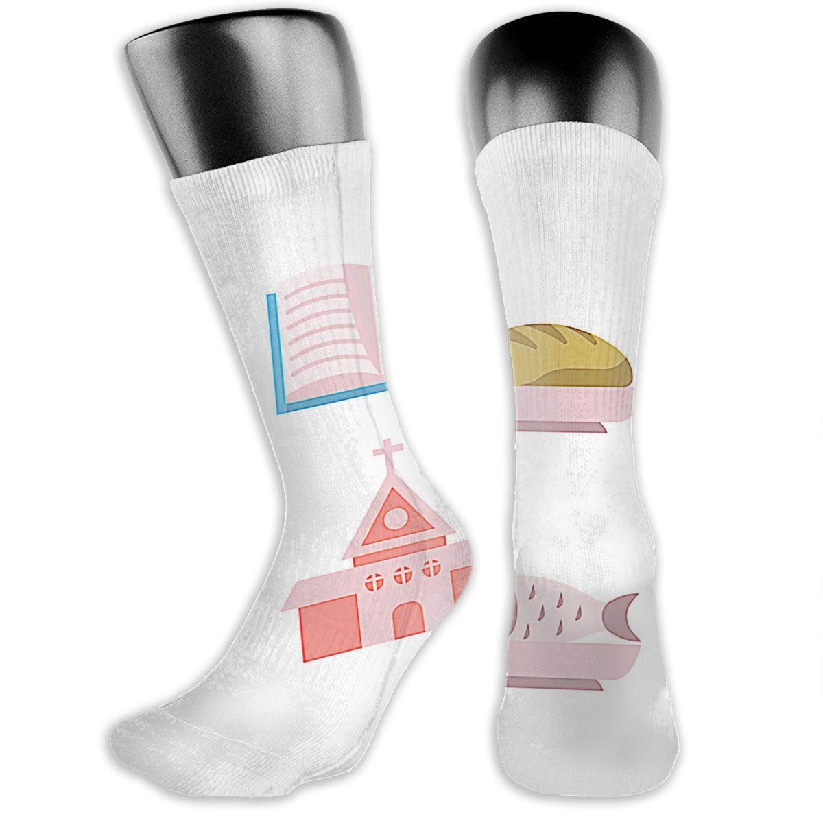 OLGCZM Comunion Icons Men Womens Thin High Ankle Casual Socks Fit Outdoor Hiking Trail