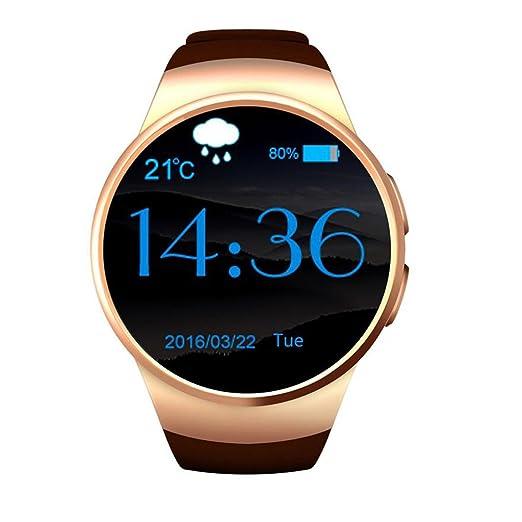 El teléfono Celular de Bluetooth de la Moda Smartwatch, Relojes Redondos de la Aptitud de