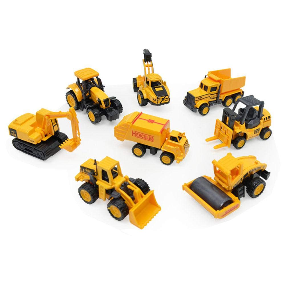 chariot /à friction et voiture asphalte pour enfants gar/çons et filles Mogoi Lot de 10 jouets de construction pour enfants Chariot /à bascule Pelle Bulldozer chariot /él/évateur