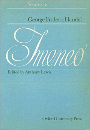 imeneo hymenaeus vocal score italian and english edition