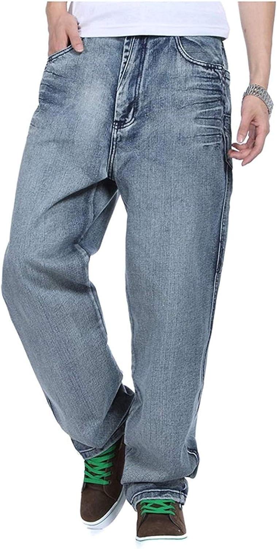 Pantalones Anchos Pantalones Vaqueros De Hip Hop Jeans Moda Estilo Inconformista De Los Nuevos Hombres Rap Denim Pantalones Rectos De La Pierna Loose Fit Amazon Es Ropa Y Accesorios