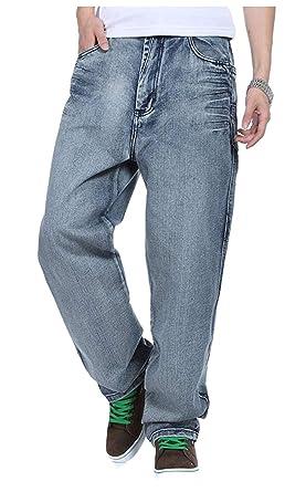 Saoye Fashion Pantalones Anchos Pantalones Vaqueros De Hip Hop Jeans Estilo Inconformista Ropa Hombres Rap Denim Pantalones Rectos De La Pierna Loose ...