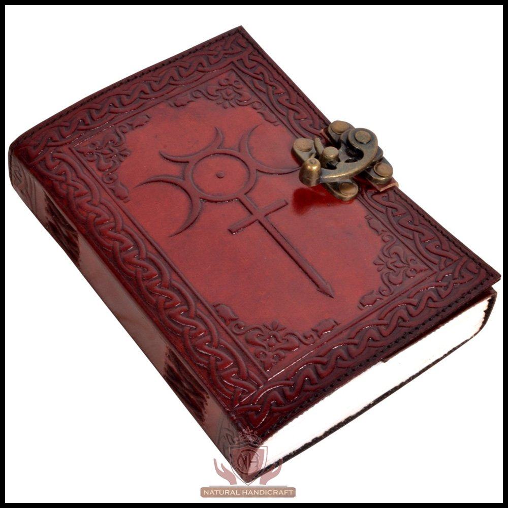 Celtic Cross Embossed Writing Handbook Leather Journal Notebook Book of Shadows Handmade Diary Appointment Organizer Daily Planner Office Diary College Sketchbook 5 x 7 inches for Men and Women