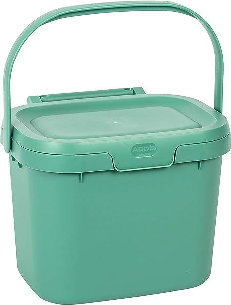 Addis 4.5 L Cuisine Compost De Stockage//Boîte à déchets alimentaires bac de recyclage Noir Poignée