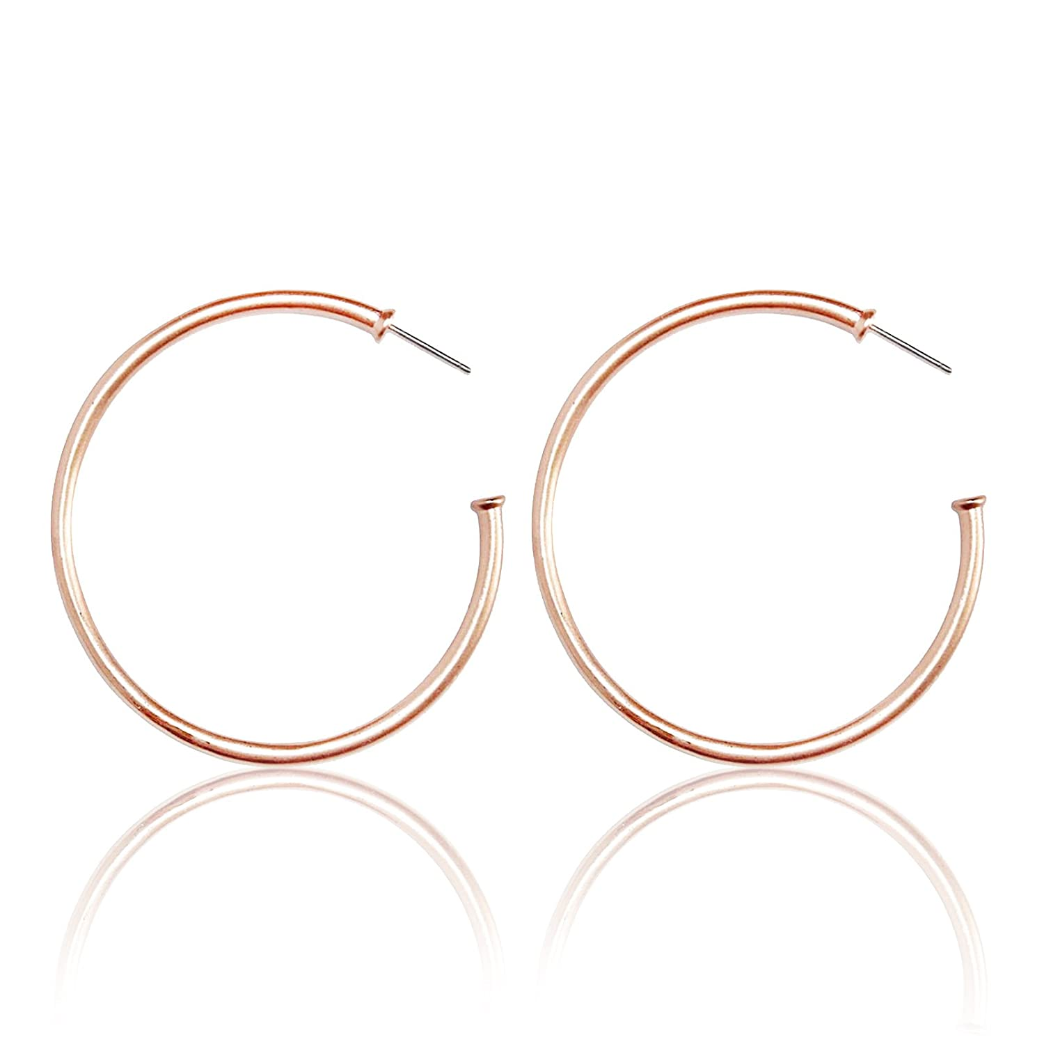 Pomina Tubular Open Round Classic Hoop Earrings by Boenmo