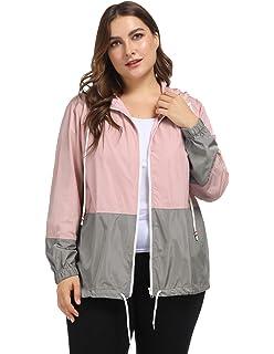 8bf5d61cafc Hanna Nikole Women Waterproof Hooded Raincoat Plus Size Lightweight Rain  Jacket