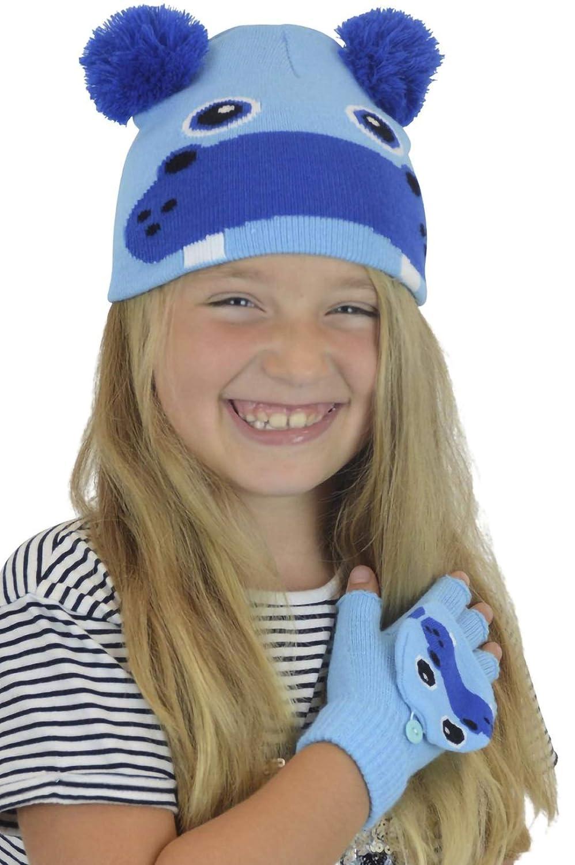 6128eeb29 RJM Childrens Novelty Animal Character Hat & Glove Set One Size
