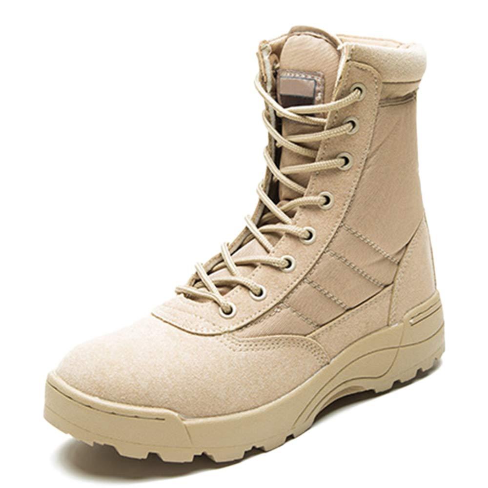 Botas De Ejército Adulto Botas Altas Al Aire Libre Botas Martin Botas De Cuero Desierto De Hombre Zapatos Con Cordones Senderismo Senderismo Calzado Unisex De Gran Tamaño 37-45 42|Beige