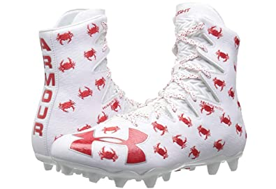 4216864e9 Image Unavailable. Image not available for. Color  Under Armour UA  Highlight MC LE Limited Edition Critters Lacrosse Cleats 12.5 White