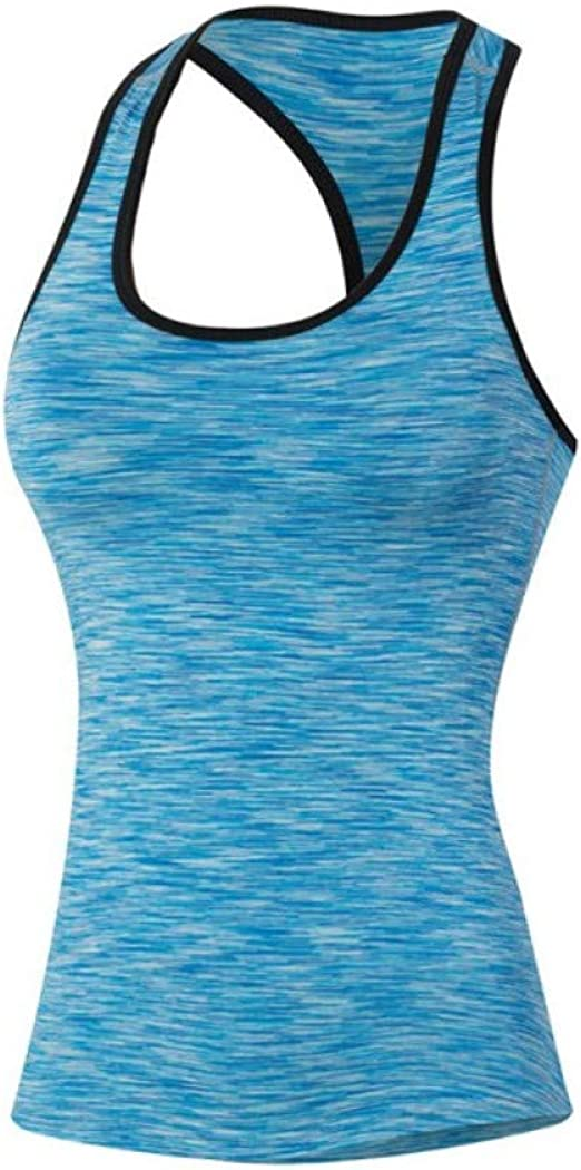 Ladies Tight Sports Vest Tank Tops Gym Yoga Fitness Solid Sportswear Quick Dry