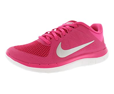 the best attitude 25567 ffcdb Nike Free 4.0 V4 Womens running shoes Model 642200 678 Vivid Pink Metallic  Silver Black 6 B(M) US  Amazon.in  Shoes   Handbags