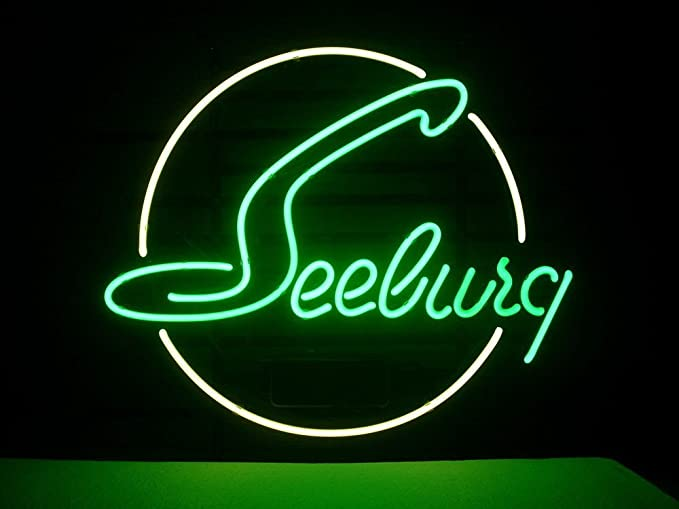Amazon.com: Sew Seeburg Jukebox Real vidrio luz de neón Arte ...