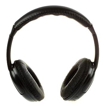 TOOGOO (R)5 en 1 Auricular Inalambrico de alta fidelidad FM Radio Monitor MP3 PC TV Audio Telefonos moviles negro: Amazon.es: Electrónica